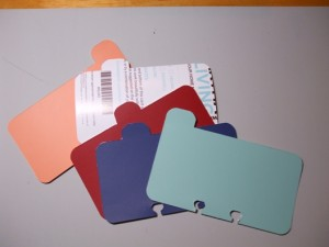 Index Tabs from Paint Chips