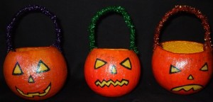 Pumpkin Candy Holders