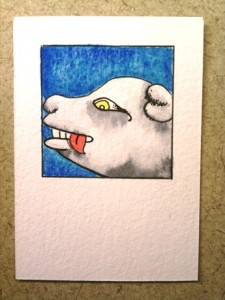 Mini Card Size Dog Glyph